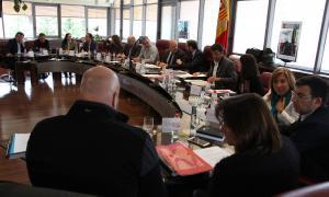 Un moment de la reunió de cònsols celebrada ahir a Canillo.
