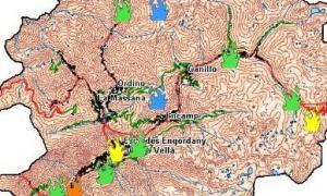 Mapa de risc d'incendis d'ahir.