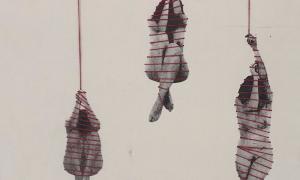 Una de les imatges que proposa l'exposició d'Emma Regada, en la mostra que comparteix amb Èric Rossell a la galeria Taranmana.