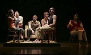 Els intèrprets de la Jocand en l'assaig general d'ahir a les Fontetes.