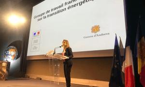 La ministra de Medi Ambient, Agricultura i Sostenibilitat, Sílvia Calvó, durant la seva intervenció.