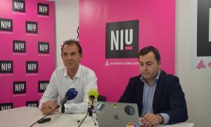 Miquel Gouarré i Carles Moreno durant la presentació de Petracoin.