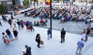 La plaça que el Comú d'Andorra la Vella vol mantenir com a espai públic.