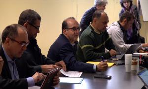 Un moment de la reunió del comitè tècnic del projecte feta a Foix.