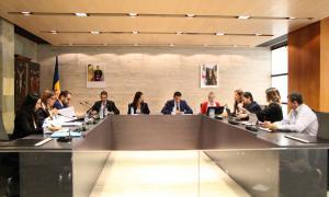 El consell del Comú d'Ordino fet ahir al migdia.