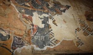 Imatge d'un dels panells murals descoberts i en espera d'estudi aprofundit.