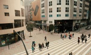 Simulació de l'aspecte que tindrà l'avinguda Carlemany un cop finalitzades les obres.