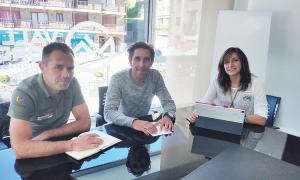 Marticella, Valls i Garcia en la reunió mantinguda la setmana passada.