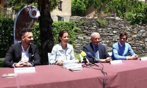 Els impulsors de la NIt de la Candela durant la presentació d'ahir.