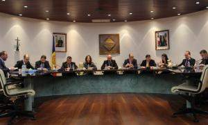 Un moment del consell de comú celebrat ahir a Encamp.