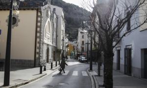 Vista d'un tram de l'avinguda Verge de Canòlich.