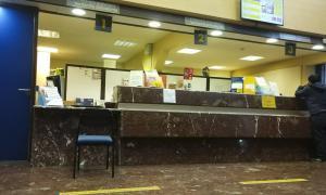 L'oficina central d'Andorra la Vella, situada al carrer de l'Aigüeta.
