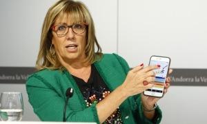 Mònica Codina quan era consellera del Comú d'Andorra la Vella.