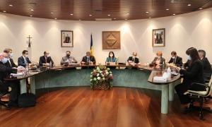 El d'ahir va ser el primer consell de Comú presencial després del confinament.