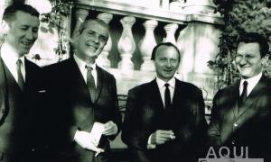 Guy de Comminges és el segon per la dreta: aquí, el 1969, acompanyat per Jean Delvigne, Jean Arnaud i Gilles Marquet.