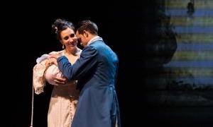 Salvador i el tenor cubà Andrés Sánchez Joglar, a la 'Cecilia Valdés' que va tancar l'última temporada, el maig al Claror.
