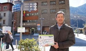 David Astrié va presentar el projecte Metrominut, ahir.