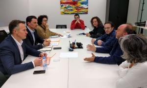 La reunió que van mantenir dimecres els membres del grup liberal amb els representants dels treballadors de l'administració.