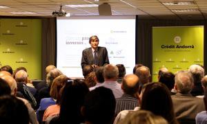 El CEO de la gestora Cobas Asset Management, Francisco García Paramés, durant la xerrada.