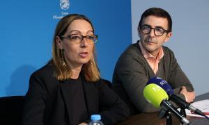 La consellera Sandra Tomàs i el gerent de Vivand, Paco Delgado.