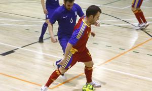Férriz en un dels partits amistosos disputats contra Grècia.