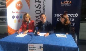 Els responsables van presentar ahir la primera Fira animalista d'Andorra.