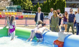 El parc aquàtic d'estiu esdevé una alternativa per als abonats al centre esportiu dels Serradells.