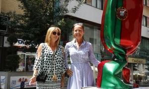 Andorra, Escaldes, escultures, Vivand, caramel, bandera, Jenkell, Gelabert, Artalroc