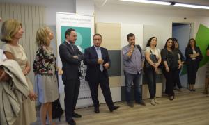 A més de les autoritats, també hi van participar en la inauguració del programa JEI alguns dels usuaris i els seus familiars.