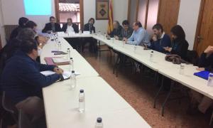 Primera reunió de la comissió de les obres del túnel de Tresponts