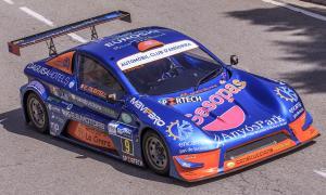 Edgar Montellà amb el seu Speed Car en un moment de la pujada.