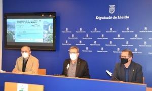 El president de la Diputació de Lleida, Joan Talarn, i el director de l'estudi, Joan Fibla