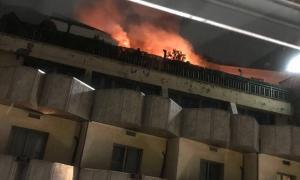 Evacuat l'hotel President per un incendi originat a la setena planta