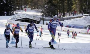 Irineu Esteve, en acció a una de les proves disputades del Tour de Ski a Tabloch.