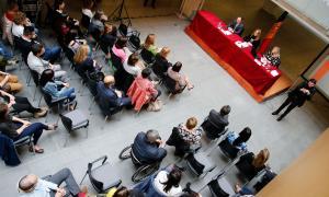Un moment de la presentació del Llibre blanc de la igualtat, ja editat, al Consell General.