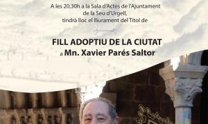 L'Ajuntament de la Seu nomenarà mossèn Xavier Parés fill adoptiu