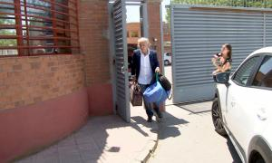 Fernando Blanco a la sortida, ahir, del Centre Penitenciari de Ponent.