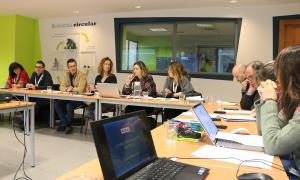 Un moment de la reunió de la comissió d'Informació i Vigilància del CTR que va tenir lloc ahir.