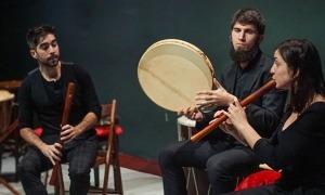 Moisés Maroto, a l'esquerra, amb la resta de l'Ensemble Serendipia.