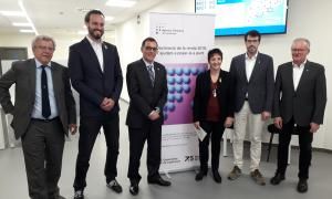 Un moment de la visita de la presidenta de l'Agència Tributària de Catalunya, Marta Espasa, a la Seu d'Urgell.