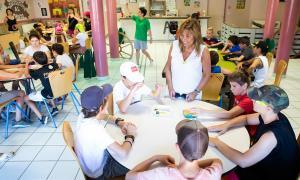 La cònsol major va visitar ahir els infants de colònies a Saint-Sernin-sur-Rance.