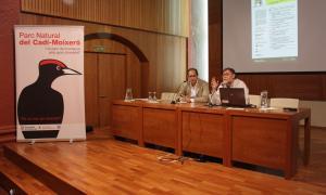 Les jornades sobre gestió del llop celebrades ahir a la Seu d'Urgell.