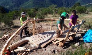 Voluntaris de Boscos de Muntanya treballant aquest estiu.