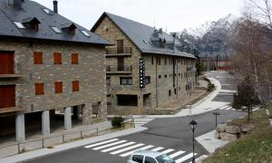 Un dels hotels del Pla de l'Ermita, al Resort de Boí Taüll.