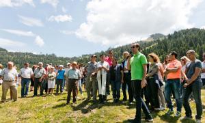 La tradicional benedicció del bestiar a Setúria va tenir lloc ahir.