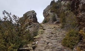 El camí d'Auvinyà a Aixirivall, una de les joies de la xarxa de camins històrics i tradicionals.