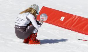 Mikaela Shiffrin no va poder evitar emocionar-se i plorar d'alegria després d'aixecar el seu quart Globus de Cristall de la temporada.
