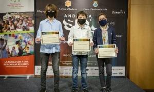 Pere González de Alaiza, al mig, amb els altres guanyadors de la categoria B.