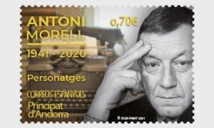 El segell dedicat a Antoni Morell, emès el 23 d'abril, té un valor postal de 70 cèntims.