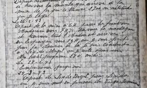 Diari d'un evadit anònim on deixa constància de la ruta d'evasió: el 26 de febrer del 1943 passava per aquí.